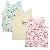 BOOPH Girls Cotton Camis Tanks Top 3 Pack Sleeveless Undershirt for Baby Toddler 5T