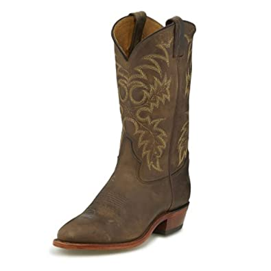 """Men's Segar Tan 12"""" height (7902)  Foot Bay Apache  Pullon Western Boots  Brown Cowboy Leather Boot  Made In USA"""