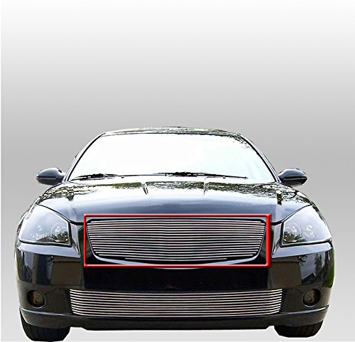 ZMAUTOPARTS Front Main Upper Hood Billet Grille Grill Aluminum Polished For Altima 4Dr