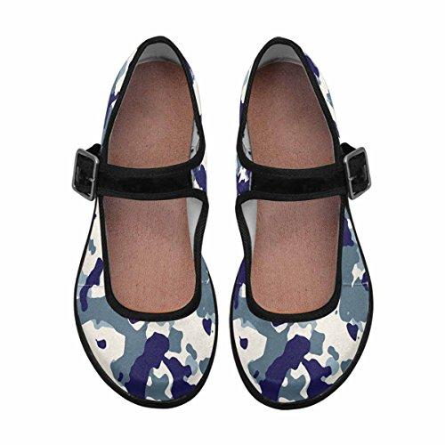 Interestprint Womens Comfort Mary Jane Flats Casual Scarpe Da Passeggio Multi 1