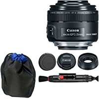 Canon EF-S 35mm f/2.8 Macro IS STM + Lens Pouch + Lens Cleaning Pen - Top Value Basic Canon Lens Accessory Bundle!