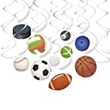 30-Count Swirl Decorations - Ball Party