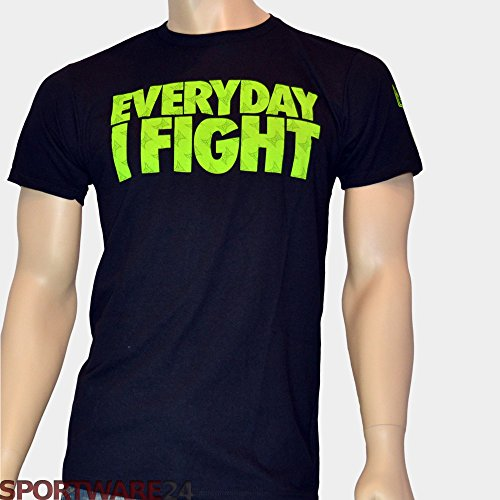 (Tapout Chael Sonnen UFC 159 Walkout T-Shirt - Everyday I Fight - Black/Line Green Small)