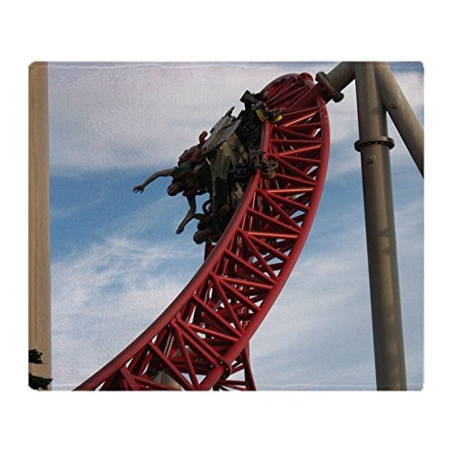 CafePress Cedar Point Maverick Roller Coaster Soft Fleece Throw Blanket, 50