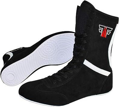 FOX-FIGHT Extreme Boxstiefel Aus Echtem Leder Professionelle Hochwertige Qualit/ät Boxen Boxing Schuhe Boxschuhe Box Hog Boots