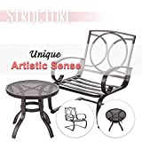 FurniTure Patio Bistro Set 3 PCs Bistro Table Set