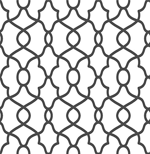 NuWallpaper NU2921 Black Clearly Cool Peel & Stick - Black Wallpaper Contemporary