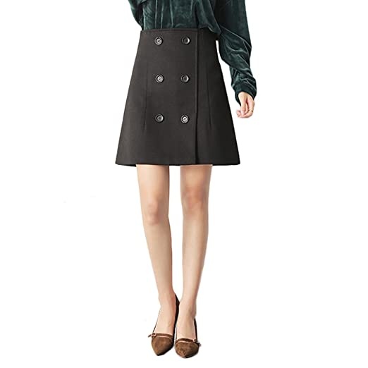 linsyt moda mujer Slim falda recta Talle Alto Invierno Retro lápiz ...