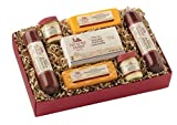 Hickory Farms Holiday Gift Boxed Hearty Summer Sausage Cheddar Cheese