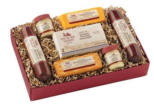 Hickory Farms Holiday Gift Boxed Hearty Summer Sausage Cheddar Cheese by Hickory Farms