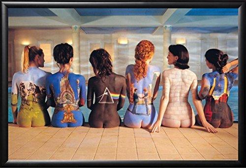 Framed Pink Floyd - Back Catalogue 36x24 Poster In Basic Black Detail Wood Frame Music Art Print (Prints Pink Floyd)