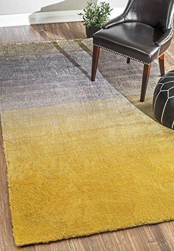 NuLOOM Handmade Ombre Shag Area Rug, Yellow, 5' x 8'