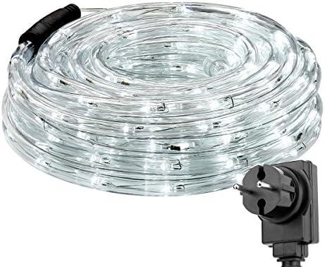 LE 12m LED Lichtschlauch, 240 LEDs Lichterschlauch IP65 Wasserfest, Lichterkette Strombetrieben mit EU-Stecker für Innen Außen Party Hochzeit Deko, Kaltweiß Leuchtschlauch
