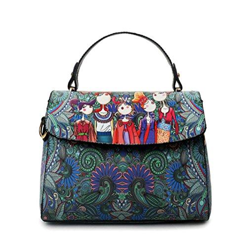 AJLBT Bolsos De Mujer Bolsos De Hombro De Moda Casual Coreano Bolsas De Mensajero Bolsas De Mujer Green