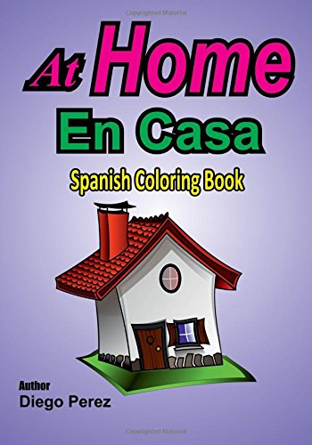 Spanish Coloring Book: At Home ebook