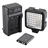 SUPON Ultra-Bright LED 36 Video Light Continuous on Camera with Rechargeable Battery Pack and Charger for Canon, Nikon, Olympus, Pentax DSLR, Mini-DSLR and Camcorders