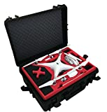 Professional Carrying Case from MC-Cases fits for DJI Phantom 4 with attached propellers and space for 6 batteries