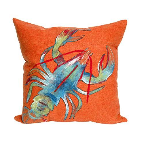 Liora Manne Mystic II Reef Fish Indoor/Outdoor  pillow, Orange - 20