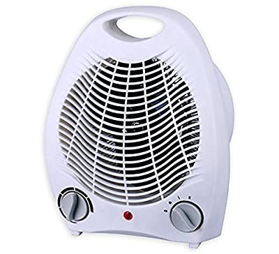 Smart 1500 Watt Quiet Fan Space Heater Table Top Forced Air Heat Portable & Adjustable Thermostat