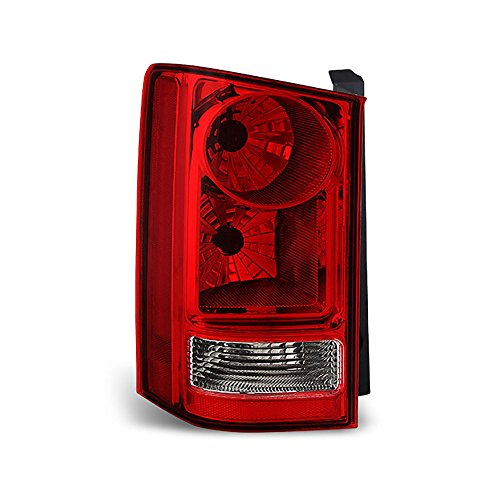 VIPMOTOZ Red Lens OE-Style Tail Light Lamp Assembly For 2009-2015 Honda Pilot, Driver Side