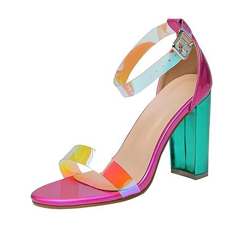 GNYD Sandalias Correctoras Juanetes Mujer Verano Planas Moda Romanas,Zapatos De Peep Toe De PVC