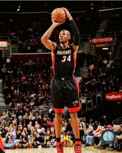 Ray Allen Miami Heat 2013-2014 NBA Action Photo - Ray Pictures Ray Of