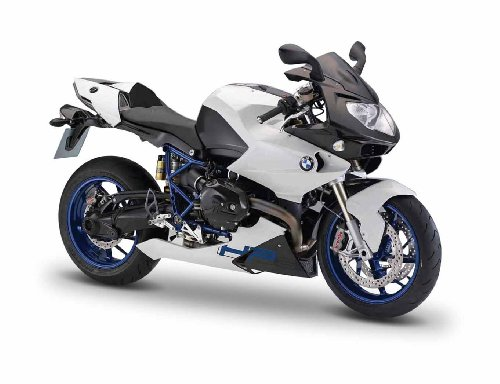BMW Motorcycle HP2 Sport Black / White 1:12 by Maisto