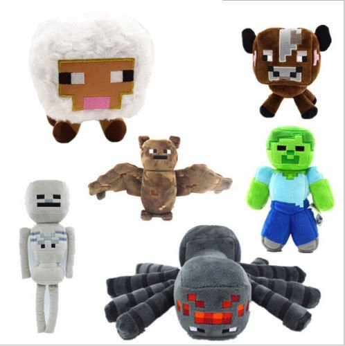 6pcs/Set New Minecraft Animal Plush Toys Stuffed Soft - Minecraft Mob Stuffed Animals