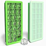 Silicone Ice Cube Tray with Lid Cover, BPA Free, 21 Cubes Each, Easy Release Ice Cubes Molds for Cocktail, Whiskey, Coffee, Fruit Juice by Ezeagbor (1 pcs, green)