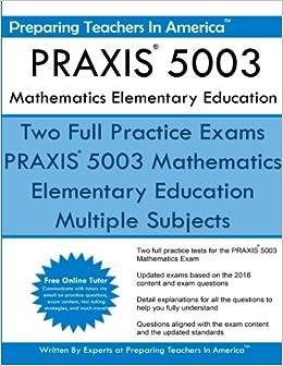 Praxis 5003 Mathematics Elementary Education Praxis Ii Elementary