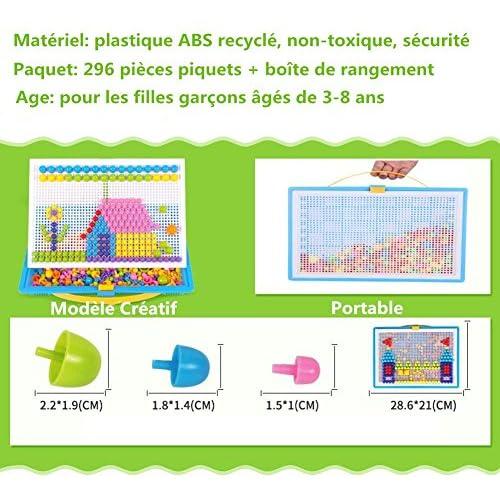 74116629a8c76 Creative Mosaique Puzzle 296pcs Bloc de Construction Magnétique Jeu de Construction  Colorée Jouet Educatif DIY Assortiment