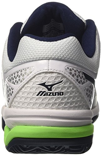 Mizuno Wave Exceed Tour Cc Zapatillas de tenis Hombre Multicolore  White/DressBlues/GreenGecko