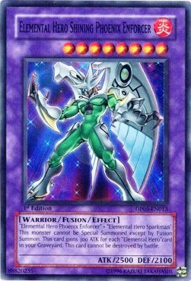 Yugioh Gx - Aster Phoenix Super Rare Single Card - Elemental Hero Shining Phoenix Enforcer Dp05-en013 Aster Single Cards