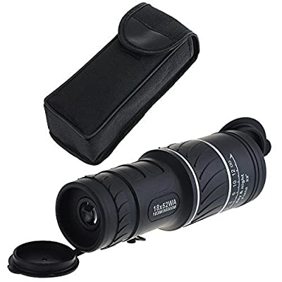 MONOTELE Super Clear 16x52 Dual Focus Optics Zoom Monocular Telescope, Day and Night Vision, for Birds/Wildlife/hunting/camping/hiking/Tourism/Armoring 66m/ 8000m