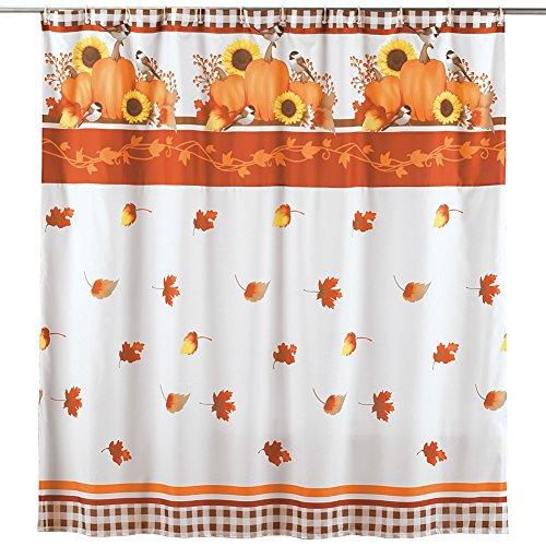 Autumn Pumpkin Harvest Shower Curtain
