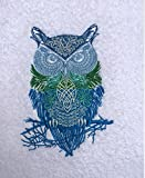 """Hoot"" ~ OWL Embroidered Bath Towel - 100% Plush Cotton"