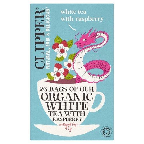 Clipper Organic White with Raspberry 26 per pack