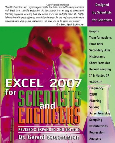Excel 2007 for Scientists and Engineers (Excel for Professionals series)