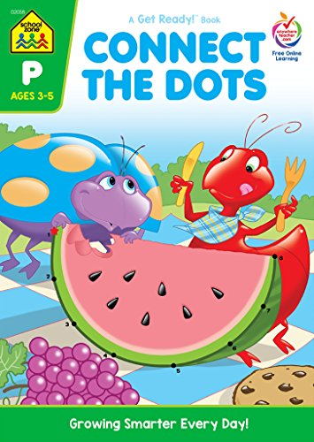 Preschool Workbooks 32 Pages-Connect the Dots (Get Ready Books)