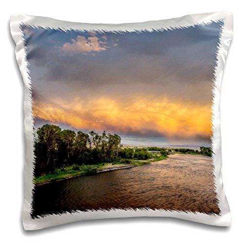 Danita Delimont - Montana - Madison River at sunset, Ennis, Montana, USA - US27 CHA2803 - Chuck Haney - 16x16 inch Pillow Case (pc_144857_1) (Ennis Bed Set)