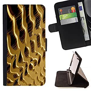 For Apple iPhone SE / iPhone 5 / iPhone 5S Case , Dunas de arena del desierto- la tarjeta de Crédito Slots PU Funda de cuero Monedero caso cubierta de piel