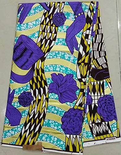 6 metros Tela Impresión africana Colorido.