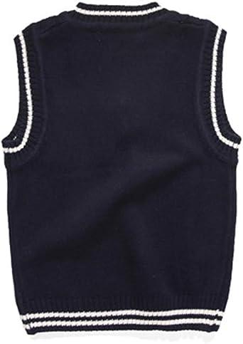 TAIYCYXGAN Little Boys Gentleman Knit Sweater Vest Kids V Neck Cardigan Waistcoat