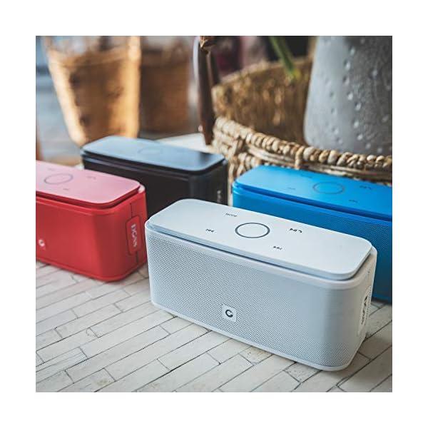 Enceinte Bluetooth 12W, DOSS SoundBox Haut-Parleur Bluetooth sans Fil Portable,Commande Tactile et Définition Stéréo, 12 Heures d'Autonomie en Lecture,Mains Libres Téléphone, Carte TF Support.-Noir 6