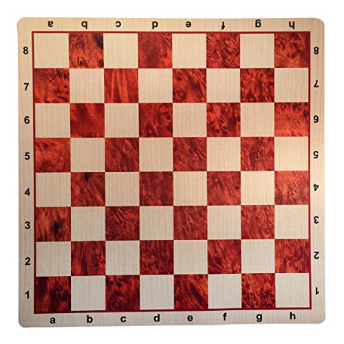 WE Games Camphor & Oak Mousepad Chessboard, 20 inches - made in USA