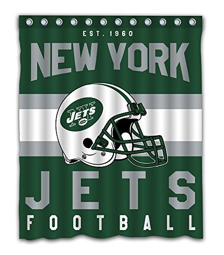 Sonaby Custom New York Jets Waterproof Fabric Shower Curtain For Bathroom Decoration (60x72 Inches)