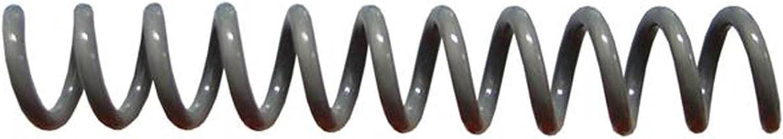 4:1 pk of 100 9//32 x 36-inch Spiral Binding Coils 7mm Charcoal Gray PMS Cool Grey 10 C