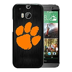Unique And Popular HTC ONE M8 Case ,Clemson Tigers Black HTC ONE M8 Screen Cover Beautiful Designed