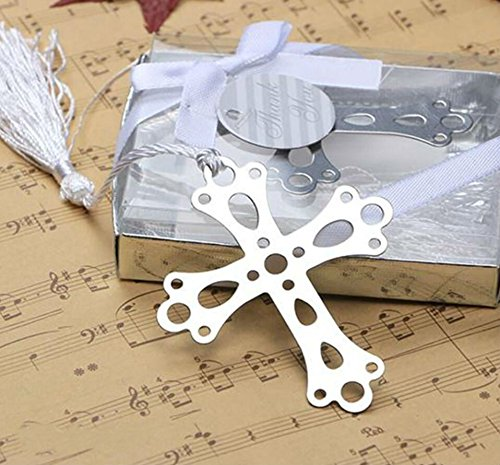 Book Lovers Collection Metal Cross Bookmark Favors (48)