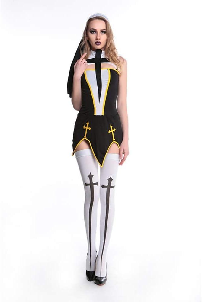 VVcostumes Disfraz de Monja Malvada de Halloween for Mujer (Color ...